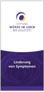 Infoflyer Linderung von Symptomen